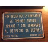 Chapa Tipo Antigua Barbacoa Parrillero Decoracion 30 X 20