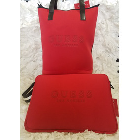 Bolsa Tote Guess Con Estuche P/laptop 100% Originales
