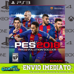 Pes 18 Pro Evolution Soccer 2018 Ps3 100% Digital Dublado Pt