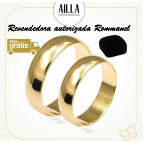 Par Alianças Rommanel F. Ouro Lisa Meia Cana Larga 510892