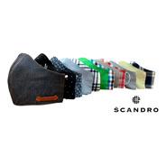 Cubrebocas Lavable Scandro Diseños Limitados 50 Pack