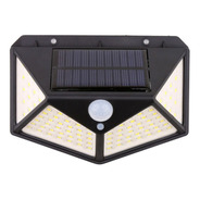 Reflector Led Panel Solar Sensor Movimiento 100 Leds