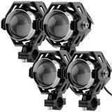 4 Neblineros Led Lupa Moto 12v Transformers 125w V5r5375