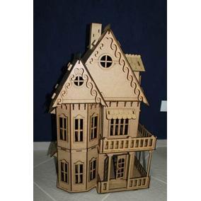 Casa Casinha De Boneca Mdf - Kit 25 Móveis Gratis