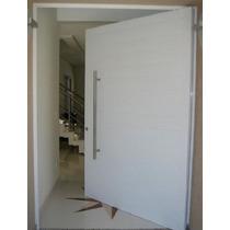 Porta Pivotante Em Alumínio Liso 1100mmx2100 Com Guarnição