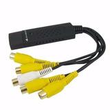 Easycap Capturadora Usb Para 4 Cámaras + 1 Audio Cctv