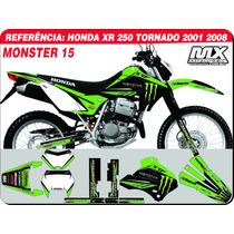 Kit De Adesivos Tornado 01 08 - Monster 15 -qualidade 3m