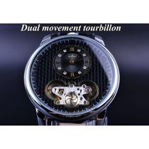 Reloj Jaragar Automatico Skeleton Transparente Original