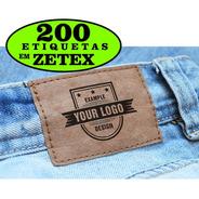 Etiqueta P/ Calças Bolsas 200 Un Personalizado Com Sua Marca