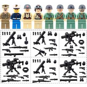 Kit Guerra Mundial, Polícia, Police, Exército - 8 Bonecos