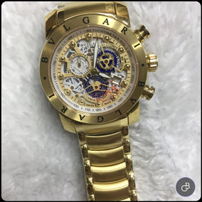 86a6082c8a6 Relógio Bvlgari Modelo Iron Man (homem De Ferro) Pulso - Relógios no ...