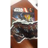 2 Álbum D Figuritas Star Wars Nuevo + 50 Packs De Figuritas