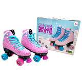 R2763 Patins 4 Rodas Roller Skate Rosa 37 / 38 - Bbr