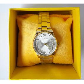 Relógio Feminino Michael Kor Dourado Com Fundo Detalhado