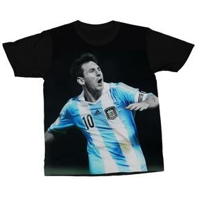 3ffa6bd951 Camiseta Lionel Messi Jogador Futebol Argentina Blusa Camisa. R  94