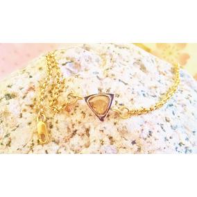 Pulsera De Diamante .50ct Estilo Antiguo Oro Sólido De 14k