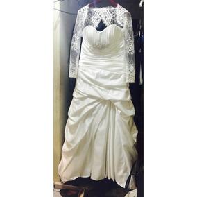 Vestido De Novia Color Ivory Y Torera De Encaje Envío Gratis