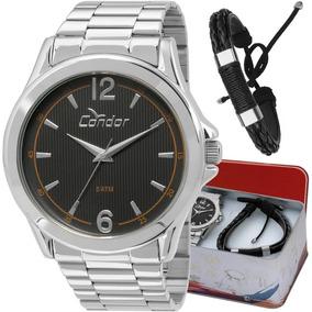 Kit Relógio Condor Masculino Com Pulseira Co2035kot/k3p
