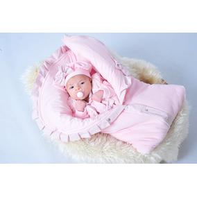 Kit Saída Maternidade Menina Inverno Rosa De Plush