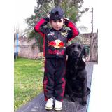 Disfraz De Piloto Corredor Red Bull Black - Talle 4
