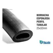 Borracha Perfil Esponjoso Tubo Punho 25x32mm - Metro Linear