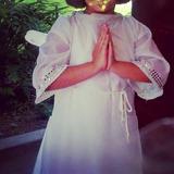 Disfraz De Angelito Túnica Blanca