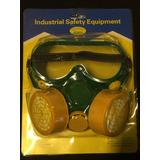 Mascara Careta Polvo + Lentes Gafas Proteccion Pack Taller