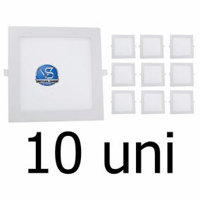 Kit 10 Painel Plafon Led 25w Luminaria Spot Embutir Led Slim
