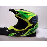Casco Fox V1 Race Color Verde/azul Talla Xxl