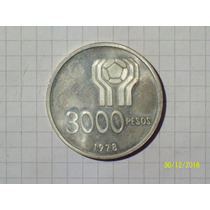 Argentina Mundial 78 3000 Pesos Plata