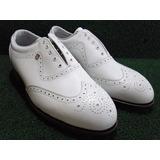 Sapato Footjoy P/ Golf Todo Em Couro Masc Div Tamanhos White