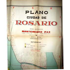 Mapa Antiguo Rosario 1940 Arpox Montenegro Paz Estuche
