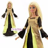 Vestido Tiana P/ Boneca Barbie * Princesa Sapo * Disney 17b