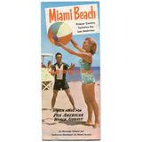 Folleto Turistico Viaje Aereo Pan American Miami Beach Usa