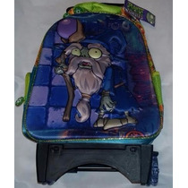 Backpack Mochila Plantas Contra Zombies 3d Carrito