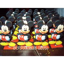 20 Souvenirs Fibrofacil Personaje Mickey + Tarjetitas
