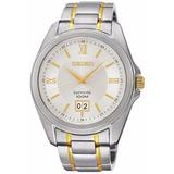 Reloj Seiko Sur101 Hombre Plateado 100m Cristal Zafiro
