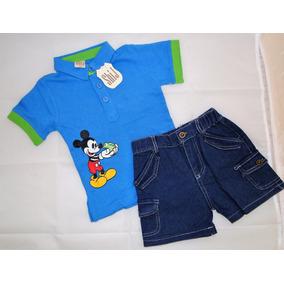 Conjunto De Remera Y Short Niño Mickey Mouse
