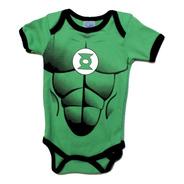 Pañalero Linterna Verde  Disfraz Con Musculos - Ropa De Bebe