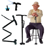 Baston Trusty Cane Plegable Con Luz Led, Base Articulada
