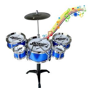 Mini Bateria Infantil 5 Tambores - Happy Jazz Drum Promoção