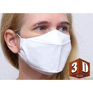 2 Máscaras Tecido 3d - Extra Grande -frasco Suporte Elástico