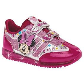 Tenis Para Niña Minnie Mouse Con Luces 62443 Envio Gratis