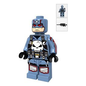 Capitão América Punisher Lego Compatível Marvel