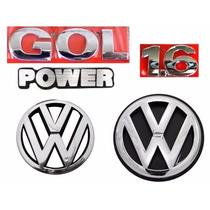 Kit Emblemas Gol Power 1.6 - Geração 3 + Vw Grade + Vw Mala