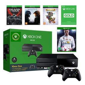 Xbox One 500gb + 4 Jogos + Live + 2 Controles