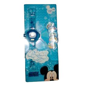 Reloj Digital Proyector Mickey Mouse, Proyecta 5 Imágenes