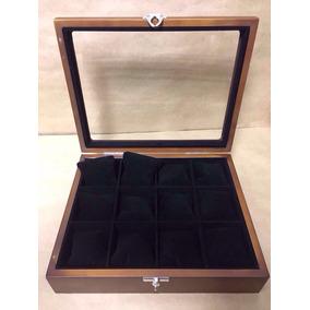 Caixa Estojo Organizador De Madeira Para 12 Relógios