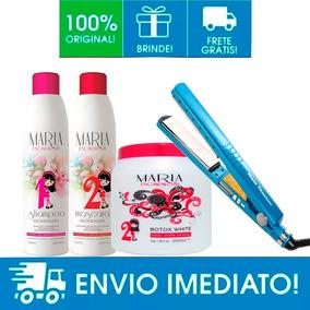 Kit Progressiva Maria Escandalosa + Botox+ Prancha Titanio