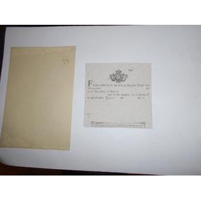 Raro Certificado Diamantes Brasil Colônia Sec 18 Tejugo 1700